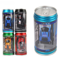 Coke Can Mini RC Rádio Controle Remoto Micro Veículo Boy Racing Car Toy Birthday Gift