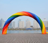 Wholesale fast d - Wholesale-Brand New Discount 20ft*12ft D=6M inflatable Rainbow arch Advertising Fast Free shipping