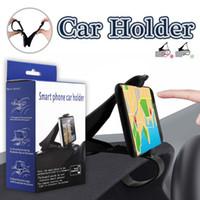 Wholesale Iphone Save - Smart Phone Car Holder Simulating Design Adjustable Dashboard Car Mount Phone Holder For Saving Driving For iPhone X 8 7 Plus