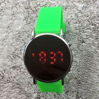 Wholesale led silicone watch band - Fashion NI luxury Brand women men's unisex LED Digital display Silicone band wrist watch N03