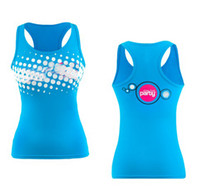 Wholesale Dance Yoga Wear - special price for woman dance wear yoga vest Tank Racerback vest Bubbalicious Top (BLUE) free shipping