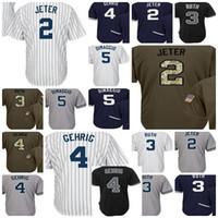 Boys boys baseball jersey black - 2017 Youth New York Jersey Derek Jeter  Babe Ruth Gehrig fea9beaf082