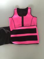 vücut daha ince kıyafet toptan satış-Neopren Sauna Yelek Vücut Şekillendirici Zayıflama Bel Eğitmen Sıcak Şekillendirici Yaz Egzersiz Şekil giymek Ayarlanabilir Kemer Korse