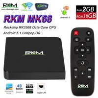 RKM MK68 Android 5.1 Smart TV Box RK3368 Окта Core 2G 16G Bluetooth Mini ПК Двойной Wifi 4K H.265 Медиаплеер 3G Dongle