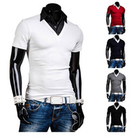 Wholesale Summer British Style Tops - New Arrival Men's Summer Casual Slim Fit British Polo Shirt T Shirts Short Sleeves Tee Top Fashion