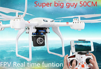 Wholesale Rc Fpv Gimbal - Professional Drones MJX X101 FPV Wifi Camera 2.4G 6 Axis Gyro Supper Large RC Quadcopter UAV With Gimbal Support Aerial Real Time