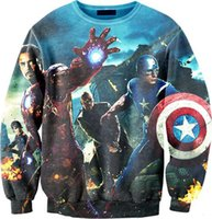 Wholesale Cool Elements - Raisevern Autumn new iron man sweatshirt marvel animation element cool hoodie HD print crewneck streetwear fall sweat tops