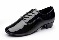 Wholesale Men S Latin - new arrival Brand New Modern boy s Children Men's Ballroom Latin Tango Dance Shoes man Salsa heeled 702 black