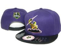 Wholesale Afl Caps - High quality adjustable NRL Melbourne Storm AFL snapback hats for man and woman baseball caps fashion hip hop snapbacks free shipping DD