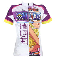 073 Nico Robin One Piece serie Mujeres manga corta ciclismo Jersey Salida de bicicleta ciclo Jersey Plus Size maillot Geniune Paladín