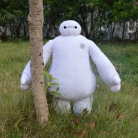 Wholesale Toy Stuffed Animals Super Cheap - 38cm 30cm Retail Super Marines Big Hero 6 Baymax Robot Hands Moveable Stuffed Plush Animals Toys children Christmas Gfit Cheap 201509HX