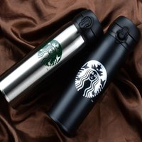 Wholesale Press Sleeves - Starbucks Water Bottles High Capacity Glass 304 Stainless Steel Thermal Insulation Cup 500ML Business Gift 6 Colors