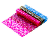 Wholesale Pebbles Bath Mat - 2016 New elliptical pebbles PVC bath mats size 36*75cm antislip massage mats colorful bathroom pierced safe pad with suction cups FHD14