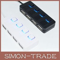 Wholesale Hub Shares - Mini USB 4 ports USB Hub High Speed USB 2.0 USB 3.0 Sharing Switch For Laptop PC Notebook Computer Free shipping with DHL