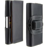 couro do coldre do telefone móvel venda por atacado-Atacado-Mobile Phone Cases Cinto Clipe Horizontal Coldre PU Leather Case Bolsa Capa para o iPhone 6 Plus 4.7 '' 5.5 '' 5S 4S