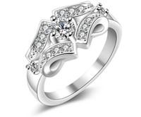 Wholesale Tungsten Steel Price - Luxury Exquisite zircon ring crystal Zircon Gemstone Ring wholesale 925 silver ring Hot Girls Gift ring wholesale low price R146 Europe