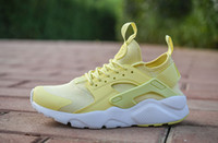 Wholesale Leather Shoes For Woman Prices - 2018 New Air Huarache 4 Running Shoes For Men Women Lowest Price High Quality Couple shoes Trainers huraches Sports Shoes size 36-45