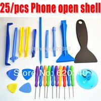 Wholesale Order Cell Phone Screens - 25 in 1 Screwdriver tool open tool for cell phone or repair iphone 4s For iPhone iPad HTC Cell Phone PC LCD screen Tools order<$18no track