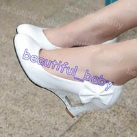 Wholesale Wedges Low Price - Low price wholesale new fashion women pumps wedges bowtie high heels shoes woman platform wedding shoes drop shipping
