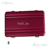 Wholesale Briefcases Lock - MINI Aluminium Cool Metal Password Briefcase Type Business Cardcase Bank ID Card Case 1D54