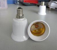 adaptateurs e27 e12 achat en gros de-E12 à E27 Base LED Ampoule Lampe Adaptateur Titulaire Socket Convertisseur 30pcs