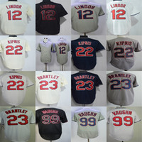 Factory Outlet Mens Womens Kids Toddlers Cleveland 12 Francisco Lindor 22 Jason Kipnis 99 Ricky Vaughn 23 Michael Brantley Baseball Jerseys