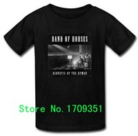 T-Shirts Acustic at the Ryman Band of Horses Printed Uomo Casual Cotton T Shirt corta Spedizione gratuita