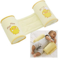 Wholesale Toddler Safe Pillows - Free Shipping 1 Piece Comfortable Cotton Anti Roll Pillow Lovely Baby Toddler Safe Cartoon Sleep Head Positioner Anti-rollover
