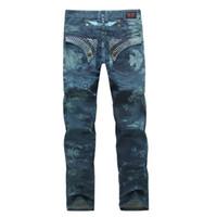 bandera americana jeans hombres al por mayor-Diseñador de lujo Robin Jeans para hombres con alas American Flag JEANS Straight Denim Cowboy Famous Brand Slim Designer Men Pants Tamaño 30-42