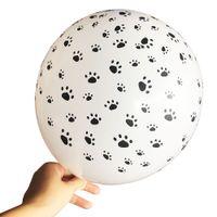 sepet kalem seti toptan satış-Kedi Köpek Paws Devriye Lateks Balonlar düğün Doğum Günü Partisi Dekorasyon Malzemeleri Paw Baskı Balon Çocuk Hediye Bebek duş Oyuncak