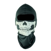 Wholesale Tactical Ghost Mask - bike bicycle motorcycle Ghost Masks Skull Balaclava Paintball Outdoor Ski Army WarGame Airsoft Military Tactical Game Hats Full Face Mask