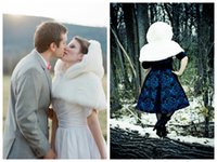 Wholesale accessories white short dress resale online - Bridal Mini Cape Faux Fur Ivory Capelet spring winter short bridal capes wraps wedding Dresses accessories with hood