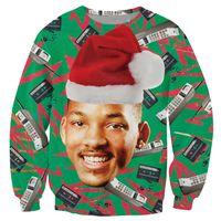 Wholesale Fresh Hoodies - Wholesale-Alisister fashion Fresh Prince Christmas Sweatshirt printed Crewneck hoodies women men harajuku hoodies Unisex 3d sweatshirt