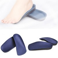 Wholesale Insole Flat Foot - Foot arch half pad treatment Diabetes correction 3 4 Orthotic Arch Support Insole Shoe Cushion Pad Running Feet Pronation Fallen