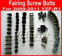 Wholesale Cheap Motorcycle Fairings Kits - New Cheap Motorcycle Fairing screws bolt kit for YAMAHA 2009 2010 2011 YZFR1 YZF R1 09 10 11 black aftermarket fairings bolts screw parts