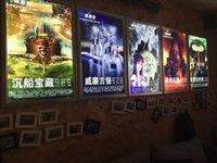 Wholesale Wholesale Poster Led Lights - A1 Movie Poster Cinema Snap Frame LED Lightbox Light Up Home Theater Sign!
