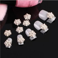 Wholesale Nail Rhinestones Gems Pearls - Wholesale- 10PCS New Arrival 3D Nail Art Rhinestones Pearl Glitters Nail Art Gems DIY Decoration NA152
