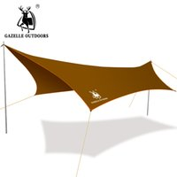 Wholesale- 300cm * 400cm Iron Poli Anti UV Ultralight Camping Sun Shelter Tenda da campeggio impermeabile Tenda a vela 190T Terylene
