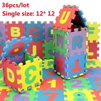 Wholesale Tapete Puzzle - Environmentally Baby Carpet Puzzle 36pcs lot Tapete de Atividades Alfombra Puzzle Eva,Baby Play Mat Puzzle Foam Floor 12*12cm