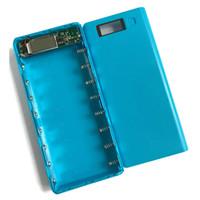 caja de batería de shell al por mayor-Nuevo DIY 8 * 18650 Caso Power Bank Shell Case Pantalla LCD portátil Cargador de caja externa Sin batería