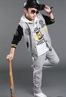 Wholesale Teenage Boy Clothing Styles - Teenage Boys Tracksuit Korean Style Letter Big Children Clothing Sets Long Sleeve Baseball Coats + Casual Pants 2Pcs Sets For Youth K215