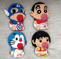 Wholesale Shin Chan Iphone Case - For iphone 7 3D cartoon silicone case Doraemon Crayon Shin-chan Nipple Protective Sleeve covers cases For iphone 5 6 7 plus christmas gifts