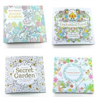 Wholesale New Secret garden adult English decompression hand painted color in coloring book Enchanted forest children painting books