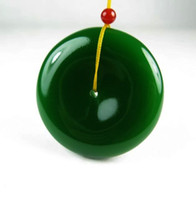 Wholesale Jade Mens Gifts - Authentic Xinjiang Hetian jade jade pendant buckle Mens spinach green Jasper Pendant