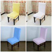 Wholesale High Chair Seat Covers - Elastic Force Chair Cover Simple Style Hotel Decorations Seat Covers Comfortable High Quality Multi Color 6 5sx C R