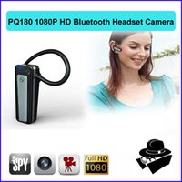Wholesale Headset Hidden Camera - 1080P Bluetooth Earphone Camera Full HD 1920*1080P Bluetooth Earphone headset Style hidden Camera spy DVR Camcorder PQ180