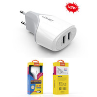 Wholesale European Travel Usb - Ldnio A2268 2.1A European standard travel long multi dual port USB charger charging plug +Micro usb cable For Apple iPhone 5 6 7iPad Samsung