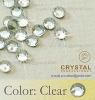 Wholesale Hot Fix Crystal Designs - Wholesale-144 pcs. ss20 Crystal Clear 5mm wholesale bulk 20ss glass hot fix iron on design diy Loose bead stone FLATBACK hotfix rhinestone