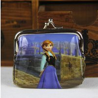 Wholesale frozen kids coin purses frozen change purses kid wallets cion wallet kids shell purses childern shell purses frozen wallets