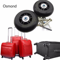 Wholesale Replacement Luggage Wheels - 1 Pair 80mmx26mm Luggage Suitcase Replacement Wheels Axles Deluxe Repair OD 80 Rubber Luggage Wheels Bag Accessories